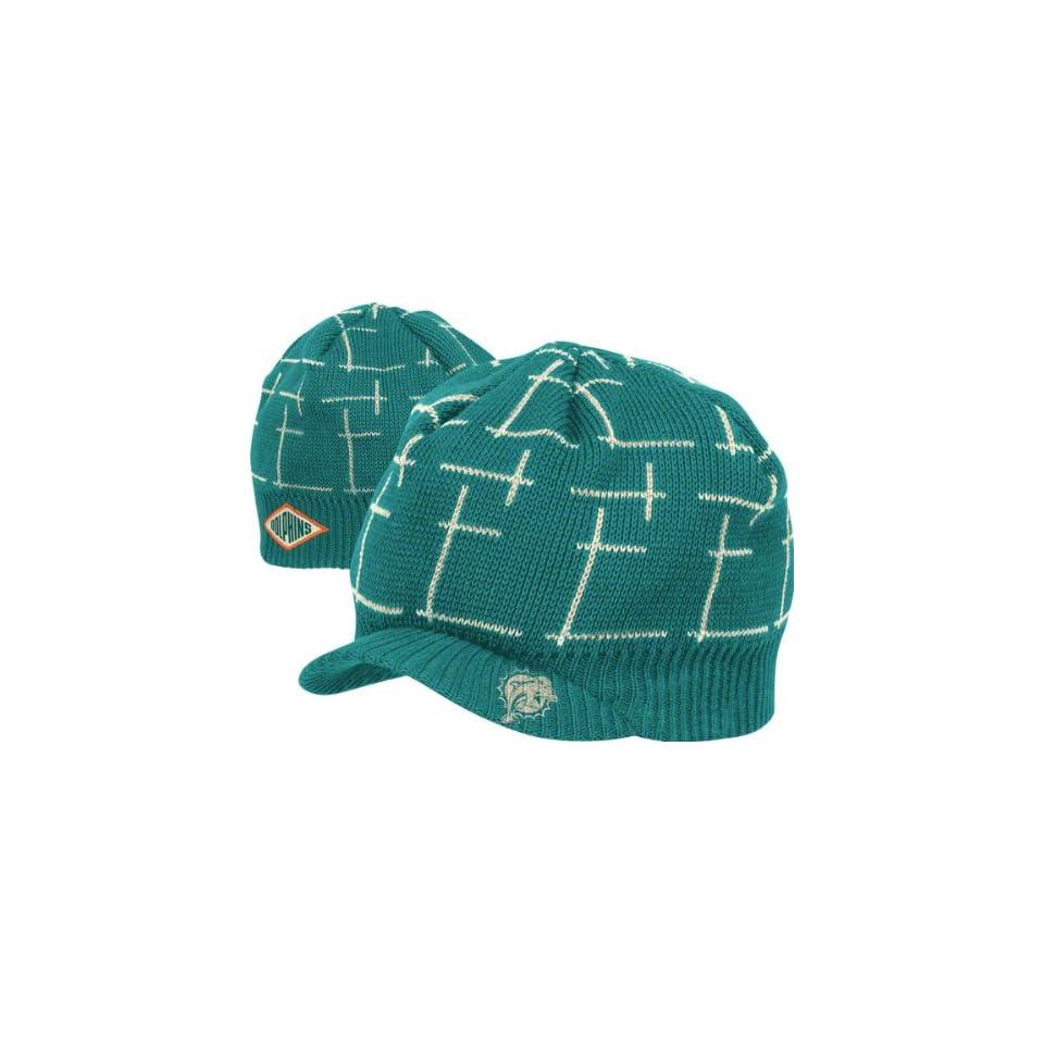 12ca4fcd970 Miami Dolphins Retro Sport Pattern Visor Knit Hat on PopScreen