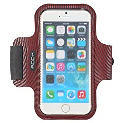 ROCK Sweatproof Sport Armband for Apple iPhone 6 - RED