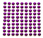 100 x Purple Self Adhesive Diamante S...