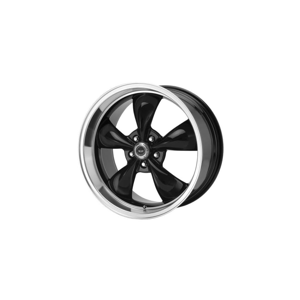 American Racing Custom Wheels AR105 Torq Thrust M Gloss Black Wheel With Machined Lip (17x9/5x120.7mm, +45mm offset)