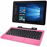 "RCA Cambio 10.1"" 2-in-1 Tablet 32GB Intel Quad Core Windows 10 Pink Touchscreen Laptop Computer with Bluetooth and WIFI video review"