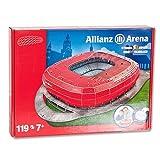 Megableu - 49001 - Puzzle Stade 3D - Allianz Arena - Bayern Munchen - Rouge - 119 pièces...