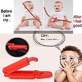 NUEVO Coche (ABS) de plástico estilo DIY Asiento Infantil para coche bebé cinturón de seguridad ajustable antideslizante Non anti-clip Correa abrazadera Clip (Rojo)