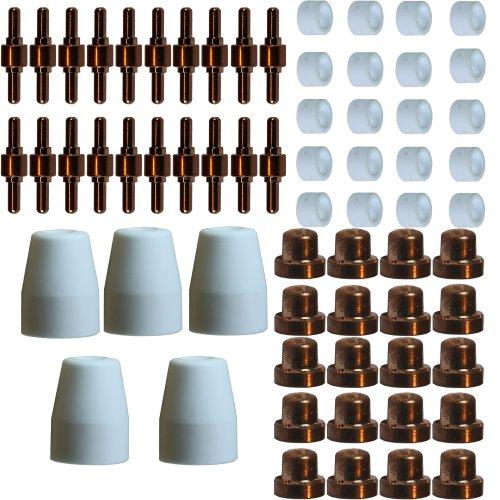 Plasmaschneider-Ersatzteilset-65-Teile-kurz-Inverter-PT-31-Elektroden-Keramikdsen-Keramikringe-Schneiddsen