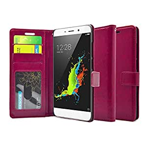 for Coolpad Note 3 FOSO(™) High Quality PU Leather Magnetic Flip Cover Case (Fancy Pink)