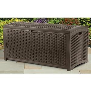 Amazon Suncast DBW7300 Mocha Wicker Resin Deck Box