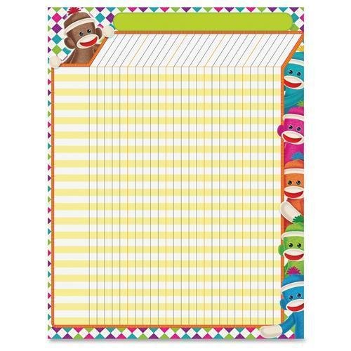 "T73375 Trend Sock Monkeys Collection Large Incentive Chart - 22"" x 17"" Sheet Size - 1 Each"