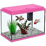All Pond Solutions Aquatlantis Funny Fish 35 Aquarium Fish Tank 15, Small/ Large, Pink