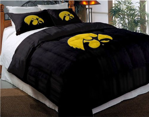 Iowa Hawkeyes Comforter Set: Twin Comforter with Shams