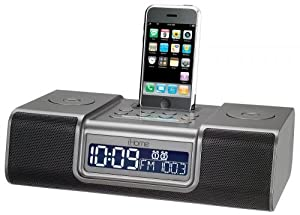 ihome ip9gre dual alarm clock radio for ipod and iphone electr. Black Bedroom Furniture Sets. Home Design Ideas