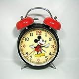 Disney ディズニー Mickey-mouse ミッキーマウス 目覚まし時計 置時計 ブラック 並行輸入品