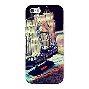 Delighted Travel Ship Map Multicolor Back Case Cover for iPhone SE