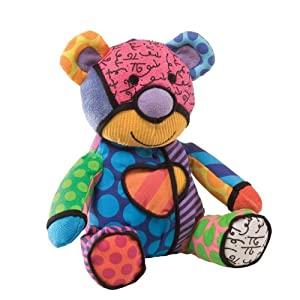Britto by Internationally Acclaimed Artist Romero Britto for Enesco Mini Bear Stuffed Animal Plush by Gund
