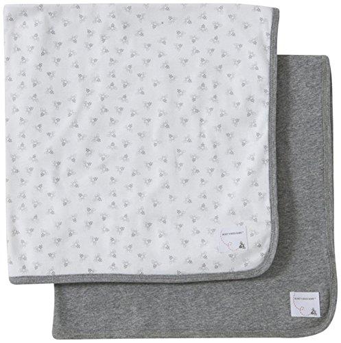 Burt's Bees Baby Unisex Baby 2 Pack Honeybee Blanket Patch(Baby)-Heather - One Size