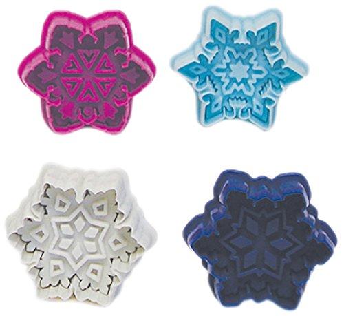 R & M International 490 Pastry/Cookie/Fondant Stamper, 3-Inch, Snowflake
