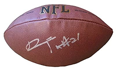 Desmond Trufant Autographed / Signed NFL Wilson Football w/ Proof Photo, Atlanta Falcons, Washington Huskies, COA