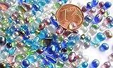 100g Deko Mosaiksteine Mini Glaskiesel 2-6mm bunt ca. 900 St.