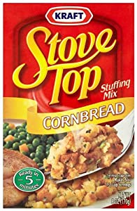 Stove Top Stuffing Mix, Cornbread, 6-Ounce Boxes (Pack of 12)