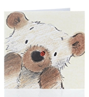 Bear & Bird Greetings Card