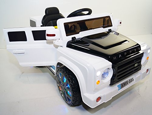 land rover for kids style happer model xmx 885 ride on car white little kid cars