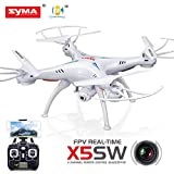 Cheerwing® Syma X5SW FPV Explorers2 2.4Ghz 4CH 6-Axis Gyro RC Headless Quadcopter Drone UFO with 2MP HD Wifi Camera (White) - Ship From US