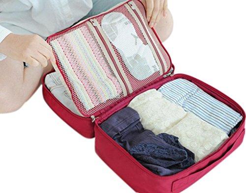 greenery-caribee-organiser-da-viaggio-borse-da-viaggio-per-bagagli-packmate-rosso-320x230x170