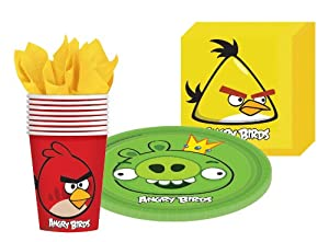 Pinatas Angry Birds party supplies kit for 8 guests includes plates, cups and napkins at Sears.com