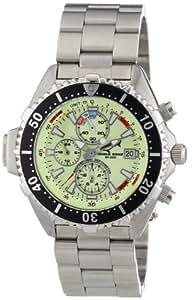 Chris Benz Unisex-Armbanduhr Chronograph Edelstahl CB-C-NEON-MB