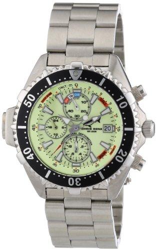 Chris Benz - CB-C-NEON-MB - Montre Mixte - Quartz Chronographe - Bracelet Acier Inoxydable Argent
