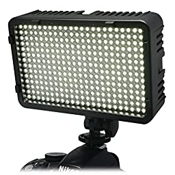Mcoplus 260 LED Dimmable Ultra High Power Panel Digital Camera / Camcorder LED Video Light for Canon Nikon Pentax Panasonic SONY Samsung and Olympus Digital SLR Cameras