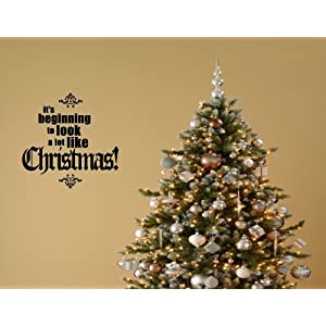 #!Cheap Christmas Decoration Wall Decals It's beginning to look a lot like Christmas