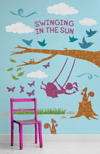 Oopsy Daisy Peel and Place Swinging in The Sun by Alice Feagan, 54 by 60-Inch