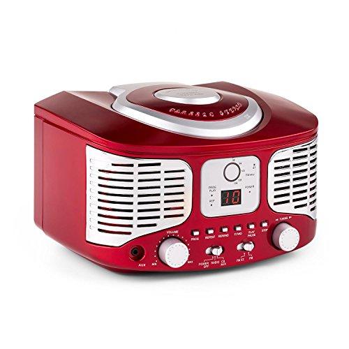 auna rcd320 poste lecteur cd r tro avec tuner fm et entr e aux rouge accessories studio. Black Bedroom Furniture Sets. Home Design Ideas