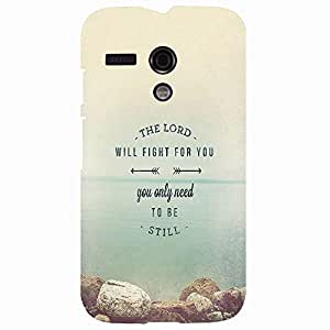 Back cover for Moto G (1st Gen) The Lord will Fight for you