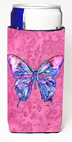 Butterfly On Pink Michelob Ultra Koozies For Slim Cans 8859Muk From Caroline'S Treasures front-81669