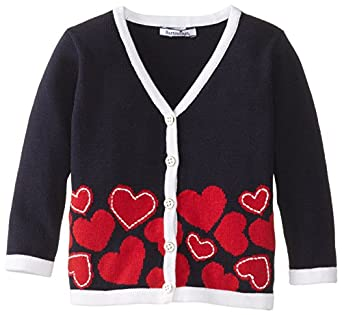 Hartstrings Baby-Girls Infant Cotton Long Sleeve Knit Cardigan Sweater, Peacoat Navy, 12 Months