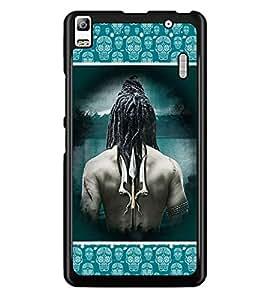 PrintDhaba Trishul D-3066 Back Case Cover for LENOVO A7000 (Multi-Coloured)