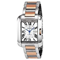 Cartier Tank Anglaise Medium Automatic Silver Dial 18 kt Rose Gold and Steel Unisex Watch W5310007