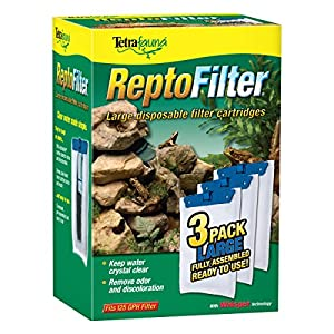 Tetra 26049 ReptoFilter Filter Cartridges, Large, 3-Pack