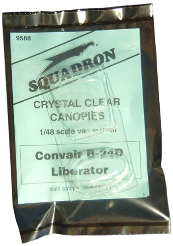 Squadron Products B-24D Nose & Main Vacuform Canopy - 1