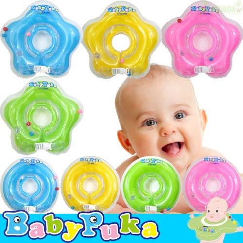 Звезда & [перевод и Продукция] BabyPuka шеи кольца ребенка шею плавать [4 цвета] (раунд тип М, Зеленый GR)