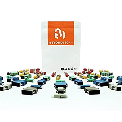 Fiber Optics Connectors Pre-polished Fiber Optic Connector Multimode (10 Pack) Beyondtech Multimode Connector