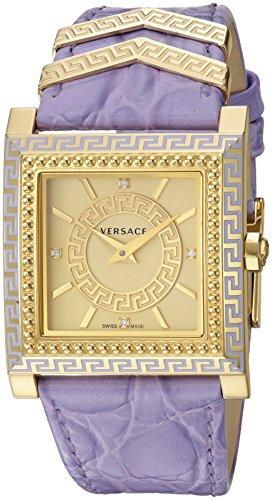 Versace-Womens-VQF040015-DV-25-Analog-Display-Swiss-Quartz-Purple-Watch