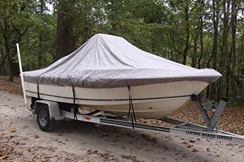 "VORTEX HEAVY DUTY GREY / GRAY CENTER CONSOLE BOAT COVER FOR 20'7"" - 21'6"" BOAT (FAST SHIPPING - 1 TO 4 BUSINESS DAY DELIVERY) primary"