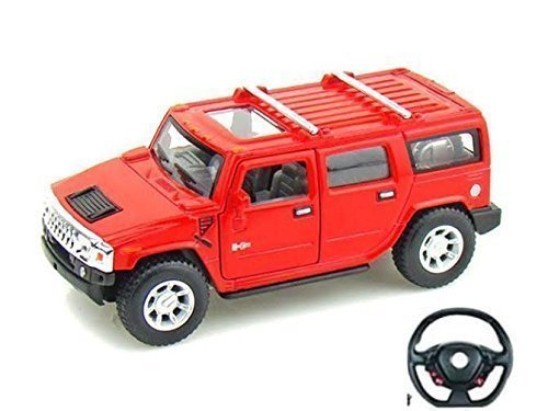 5010-2a-red-hummer-style-model-car-with-steering-wheel-remote-control-116-battery-operated