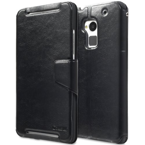 #>>  GreatShield SHIFT LX Leather Wallet Case with Card Slots for HTC One Max / T6 (Black)