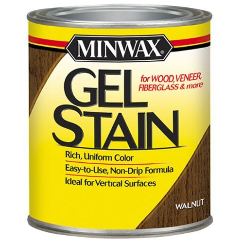 Minwax 66060 1 Quart Gel Stain Interior Wood, Walnut (Gel Stain Top Coat compare prices)