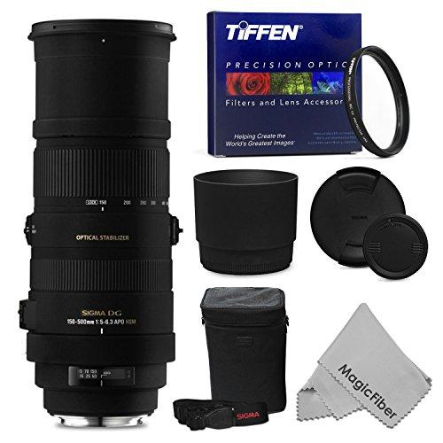 Sigma 150-500Mm F/5-6.3 Af Apo Dg Os Hsm Telephoto Zoom Lens + Tiffen 86Mm Uv Protection Filter For Nikon Dslr D750 D7100 D7000 D800E D800 D600 D5300 D5200 D5100 D5000 D3300 D3200 D3100 Cameras