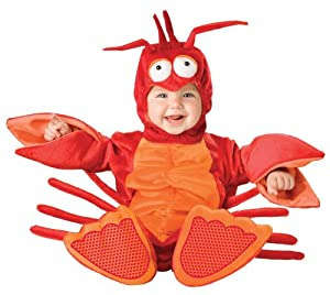 InCharacter Unisex-baby Newborn Lobster Costume, Red/Orange, Small (6-12 Months)