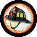 Fire Watch Helmet Themed Dessert Napkins & Plates Party Kit for 8